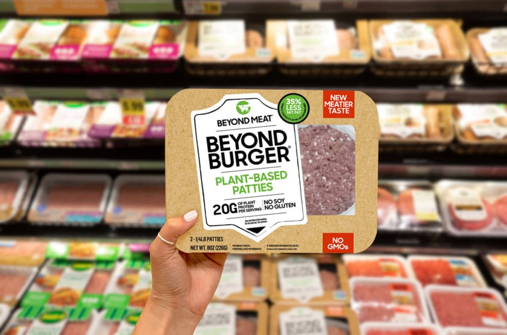 Beyond Burger Meat burger patties looks just like their real meat counterparts . Credit Beyond Meat
